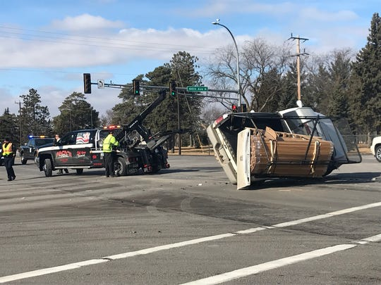 A rollover crash occurred about noon Thursday at Veterans Drive and 44th Avenue North in St. Cloud.