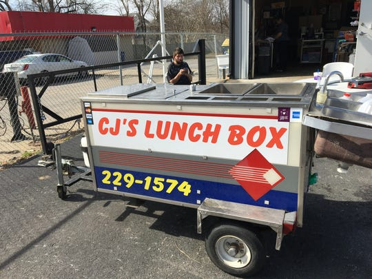 The CJ's Lunch Box trailer was parked near the CJ's