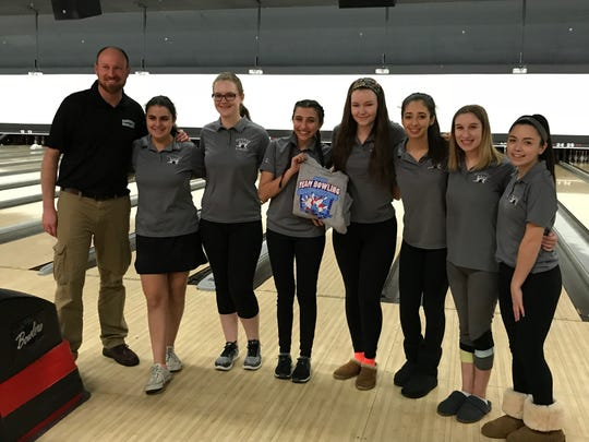 In its state girls bowling team finals debut, Mahwah not only took home T-shirts but also bragging rights as the top-scoring North Jersey team. The Thunderbirds compiled a fourth-place 2,505 in Group 2 at Bowlero Carolier Lanes on Friday, Feb. 16, 2018.