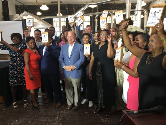Detroit Mayor Mike Duggan announced the recipients