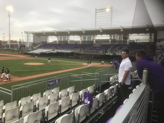 A view from the stands at GCU's baseball stadium.