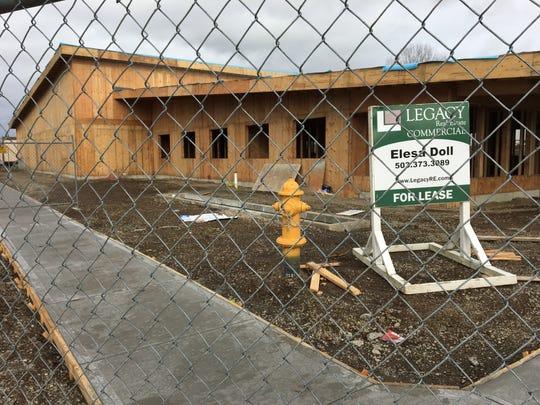 Construction at 195 Pine St. NE in Salem, Oregon, on Feb. 16, 2018.