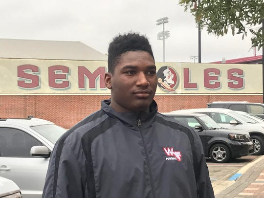 2019 OT Darius Washington visits FSU for Junior Day.