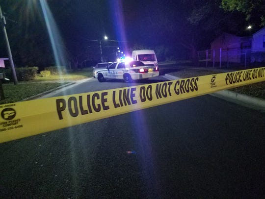 Police were at the scene of a reported burglary Feb. 16, 2018, in the 1400 block of Avenue M in Fort Pierce when an officer shot and injured a person.