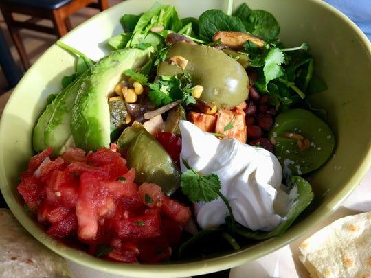 The Southwestern salad at California Tortilla was substantial