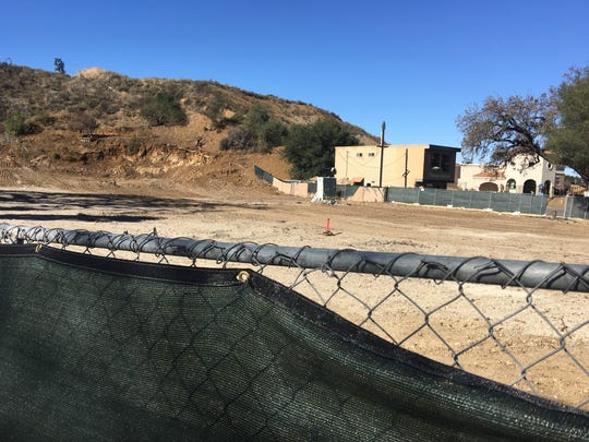 The site of the former Lupe's Mexican Restaurant in downtown Thousand Oaks is shown. Lupe's was torn down in November to make way for the construction of a mixed-use complex.