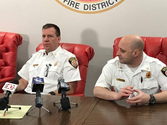 Henrietta fire chief Mark Strzyzynski and assistant