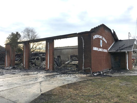 Woodstown ambulances destroyed in fire, Feb. 19, 2018