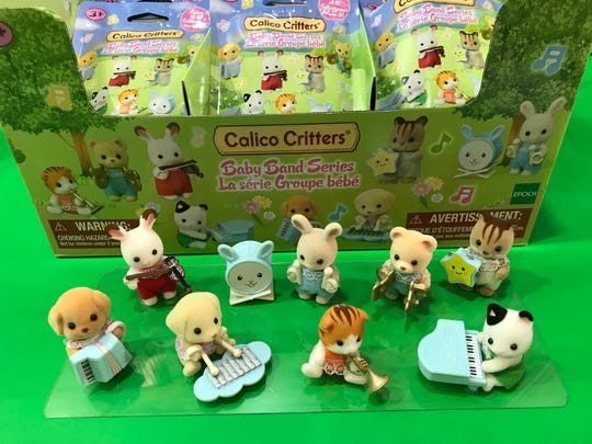 "The ""blind bag"" collectibles line of Calico Critter toys from Epoch Everlasting Play in Parsippany."