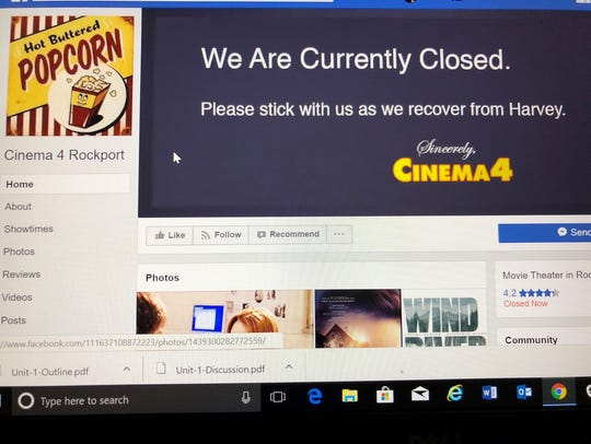 The Cinema 4 Facebook page as of Feb. 19, 2018, which