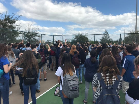 About 200 students at Oasis High School in Cape Coral