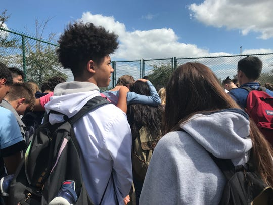 Oasis High School students had a moment of silence