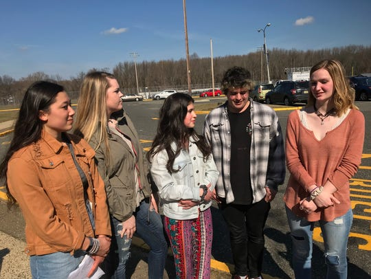 The co-organizers of a student walkout at Middletown