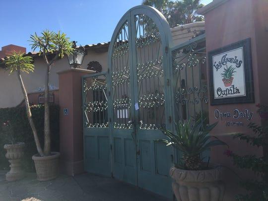 Las Casuelas in La Quinta is padlocked on Wednesday