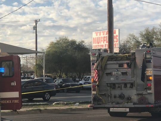 Phoenix police were at the scene of an officer-involved
