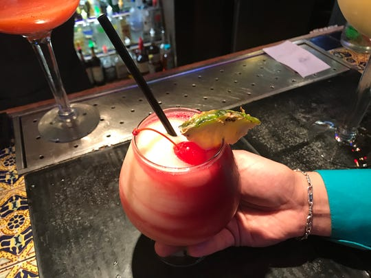 The sangria margarita is the current special cocktail offered at Los Bandidos de Carlos & Mickey's, 1310 Magruder St.