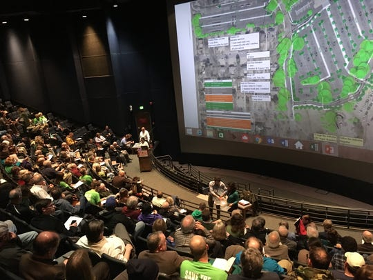 About 150 people attend a presentation of a plan for