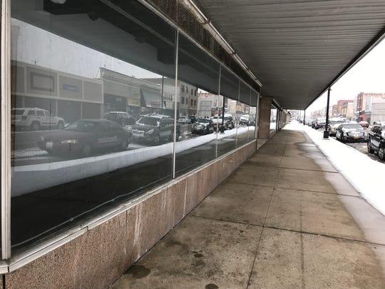 The empty former Burt's Department Store on Endicott's