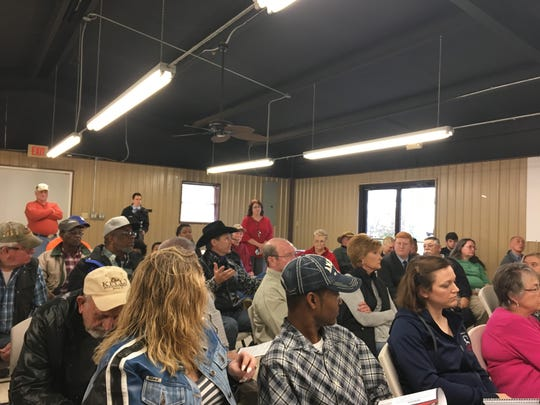 Mike Johnson held a Town Hall meeting in Plain Dealing on Feb. 22, 2018.