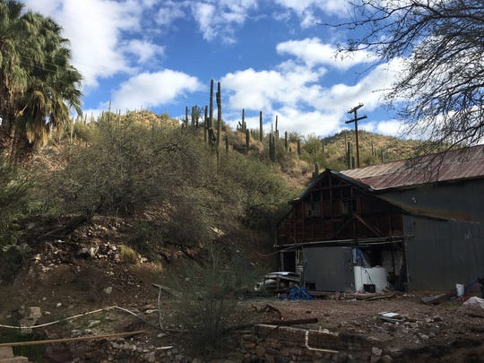 The laundry building, where the resort's linens were washed with hot water pumped from the springs, is being converted to a microbrewery expected to open in 2019.