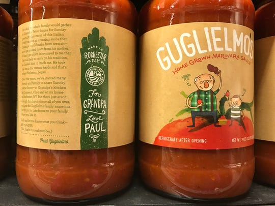 Jars of Guglielmo's Sauce, based on Rochester, bear the Pride of New York label.