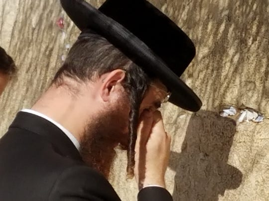 An Hasidic Jew at the Western Wall.