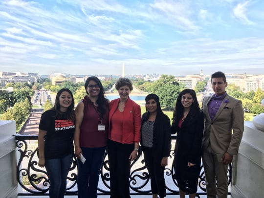 Guadalupe Pimentel-Solano, left, and other dreamers, met last fall with Indiana Congresswoman Susan Brooks, to share their stories of how DACA has helped their lives.