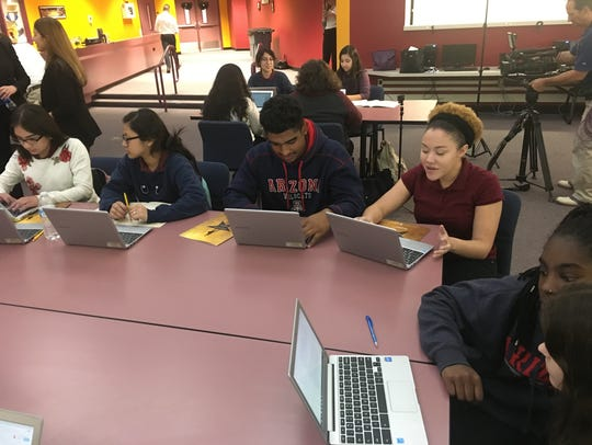 Students at ASU Preparatory Academy work on their performances