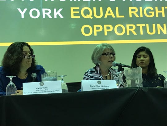 From left, Maria Vullo of the New York State Department