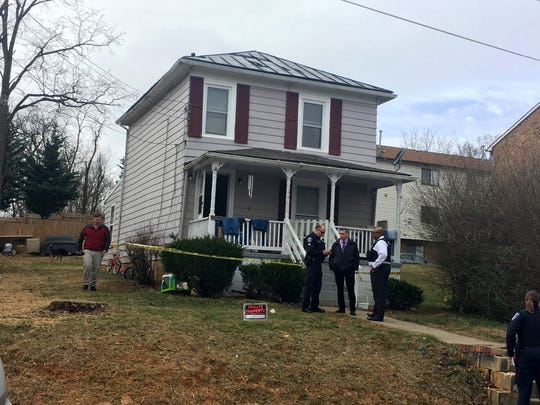 Staunton Police on the scene of a reported shooting in the 100 block of South Sheets Street in Staunton's West End on Friday, Feb. 23, 2018.