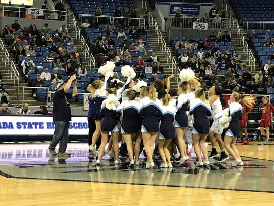 Centennial players and fans celebrate its fourth straight