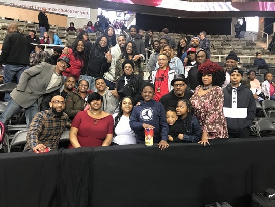 Patterson's family filed in to watch him senior game