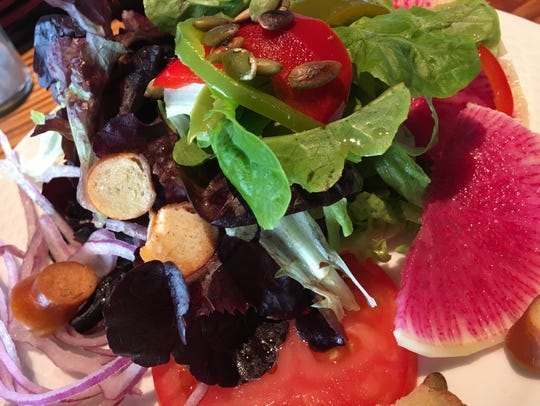 Salads at Rising Tide Tap & Table were crisp and colorful,