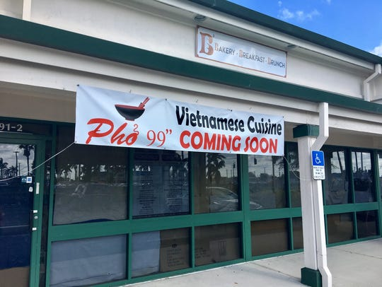 A sign is up for Pho 99 on Boy Scout Drive in south