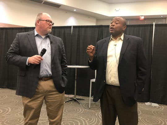 Abilene City Manager Robert Hanna, left, and Mayor Anthony Williams.