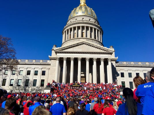 AP TEACHERS WALKOUT A USA WV