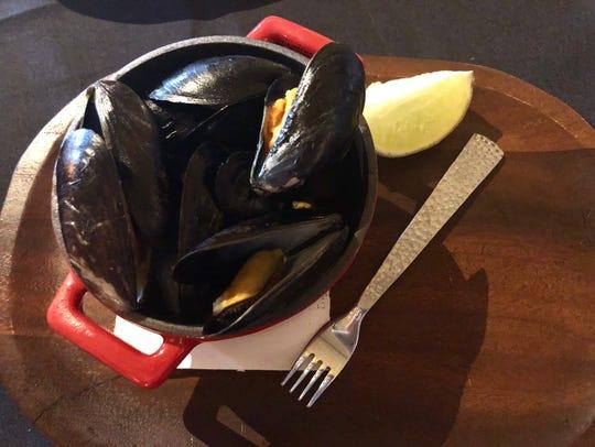 Prince Edward Island Thai mussels ($9) feature a Thai
