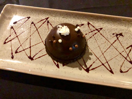 Chef Brandon's chocolate mousse dome ($12) at The Cave