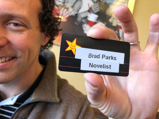 Author Brad Parks writes his books at the Staunton Hardee's on Central Avenue.