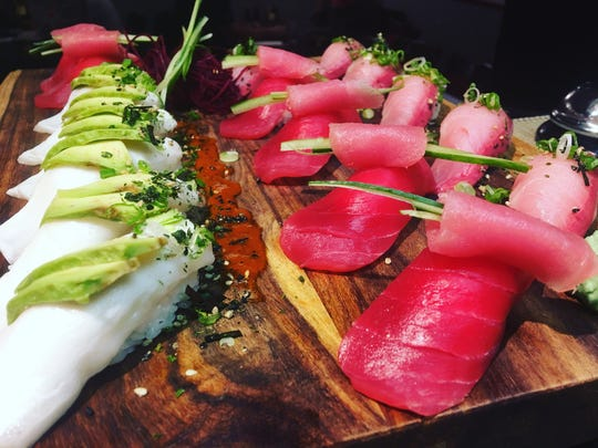 Some of what raw fish lovers can get at  Kenko Sushi