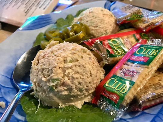 The smoked fish dip from Rusty's Raw Bar is made from mullet, marlin and sailfish, per the menu.