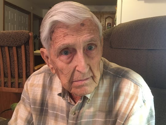 Richard Lohrens, who celebrates his 98th birthday on March 4, 2018, fought in the infantry in North Africa and Italy during World War II.