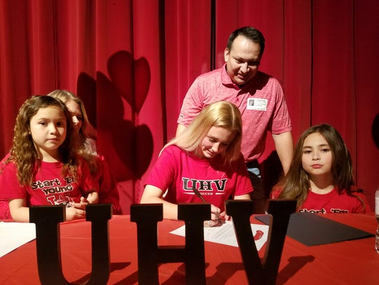 Wichita Falls High School senior Chloe Rodriguez signed to play soccer at University of Houston-Victoria on Wednesday.