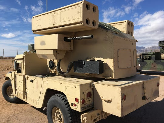 Charlie Battery, 5-5 ADA from Fort Sill, Okla., brought the Avenger air-defense system with them to Roving Sands at Fort Bliss.
