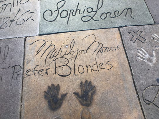 Marilyn Monroe's hands are immortalized at the TCL