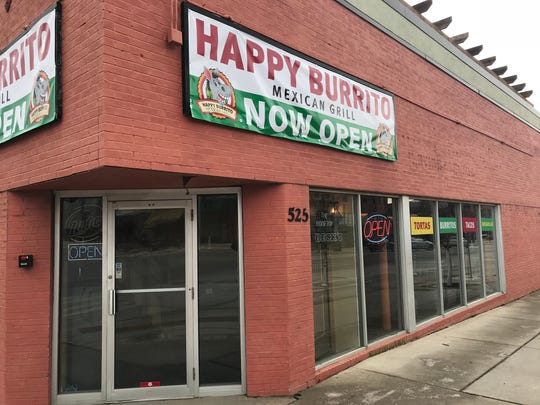Happy Burrito is located at 525 E. Grand Ave. in Des
