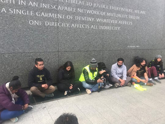 "More than a dozen ""Dreamers"" and allies completed a"