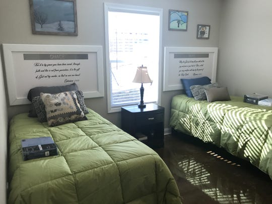 Bedrooms in the Dane McCoy Graduation House are dedicated