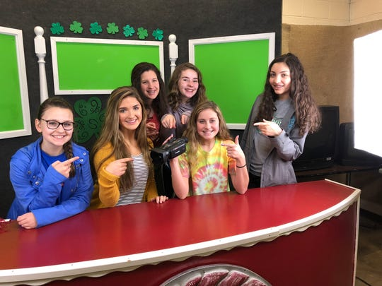 """The Gresham News Crew received a grant from the GMS Foundation to purchase a new camcorder last year,"" said teacher Trafton Wagner. ""We use it daily.""  Students pictured here are Jessica Popescul, Lexi Dishner, Baylee Mullins, Milah Davidson, Lyric Fowler, and Eleni Clark"