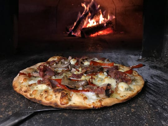 Wood-fired pizzas at Knuth Brewing Co. in Ripon are